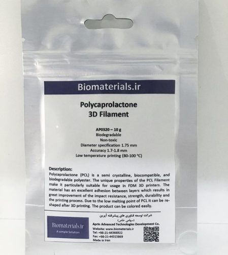 Polycaprolactone filament