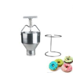 Stainless-steel-Mini-Manual-Donut-Maker-Machine-Cake-Donut-Hopper-with-Stand-Commercial-household-donut-molding