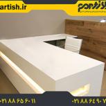 میز منشی ام دی اف با کیفیت بالا و ساخت اختصاصی