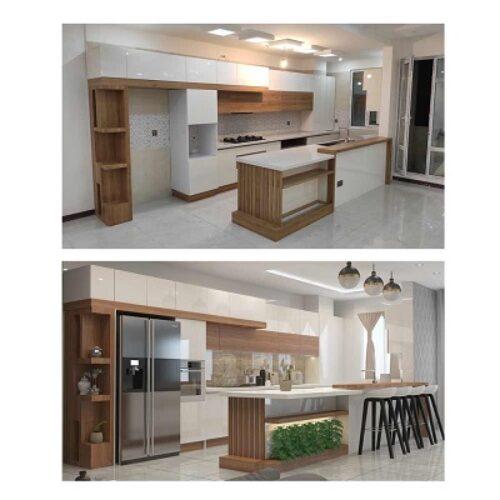 طراحی واجرای کابینت آشپزخانه